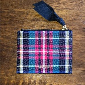 JCrew Tartan Plaid Card Holder